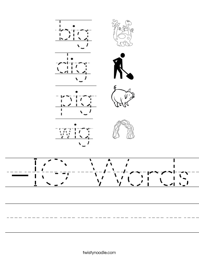 -IG Words Worksheet