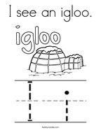 I see an igloo Coloring Page