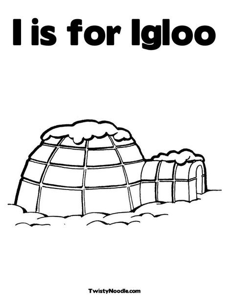 Igloo colouring pages
