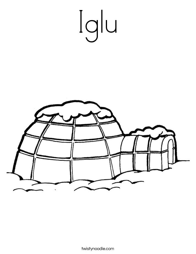 Iglu Coloring Page