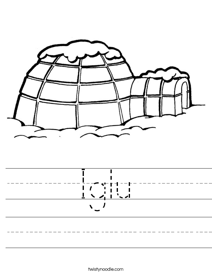 Iglu Worksheet