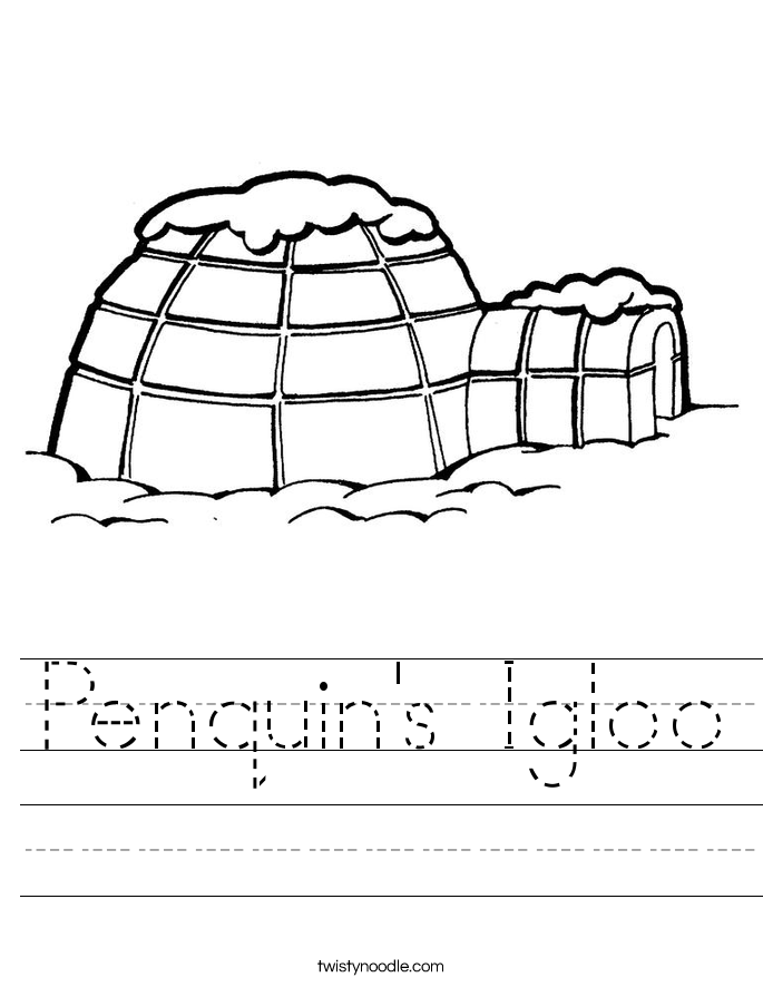 Penquin's Igloo Worksheet