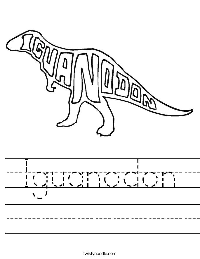 Iguanodon Worksheet