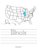 Illinois Handwriting Sheet