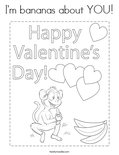 I'm bananas about YOU! Coloring Page