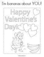 I'm bananas about YOU Coloring Page