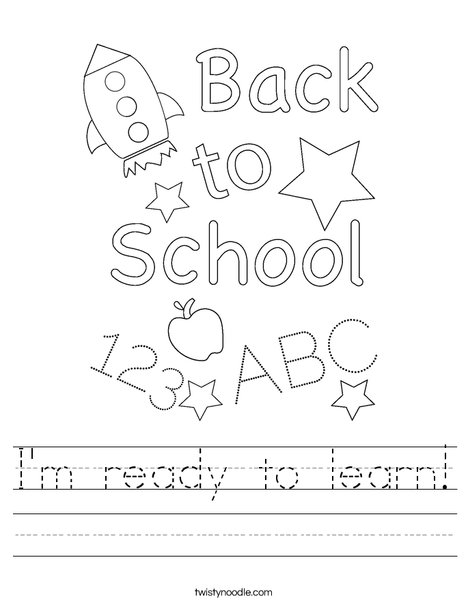 I'm ready to learn! Worksheet