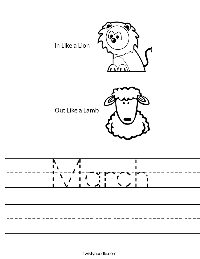 March Worksheet
