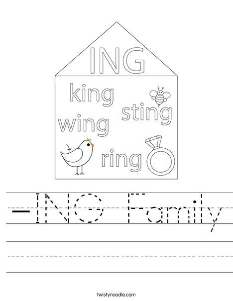 -ING Family Worksheet