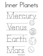 Inner Planets Coloring Page