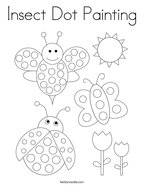 Insect Dot Painting Coloring Page