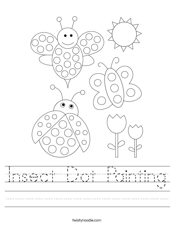 Insect Dot Painting Worksheet