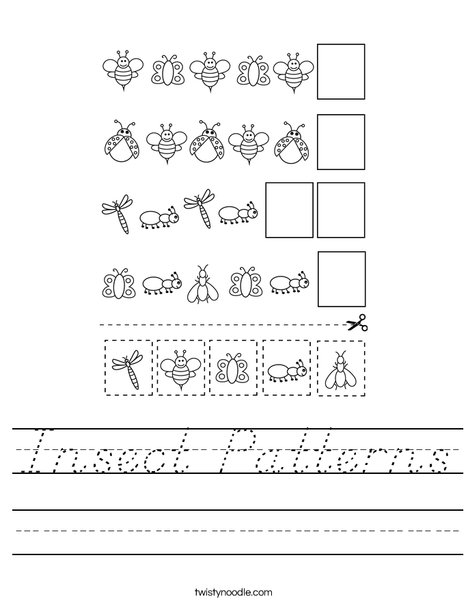 Insect Patterns Worksheet