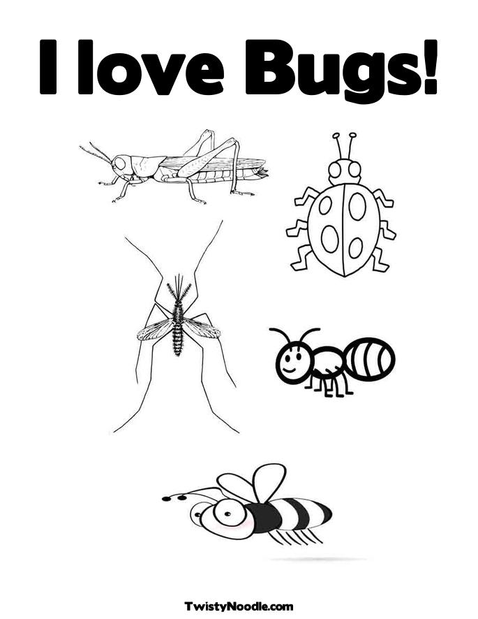 love insect coloring pages - photo#27