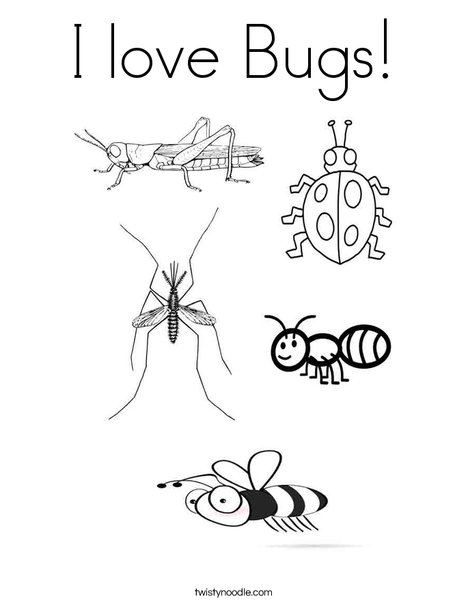 Delicieux I Love Bugs Coloring Page