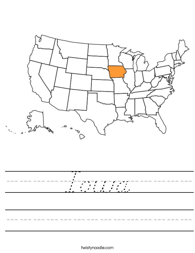 Iowa Worksheet