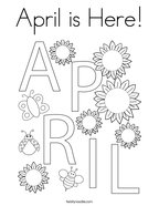 April is Here Coloring Page