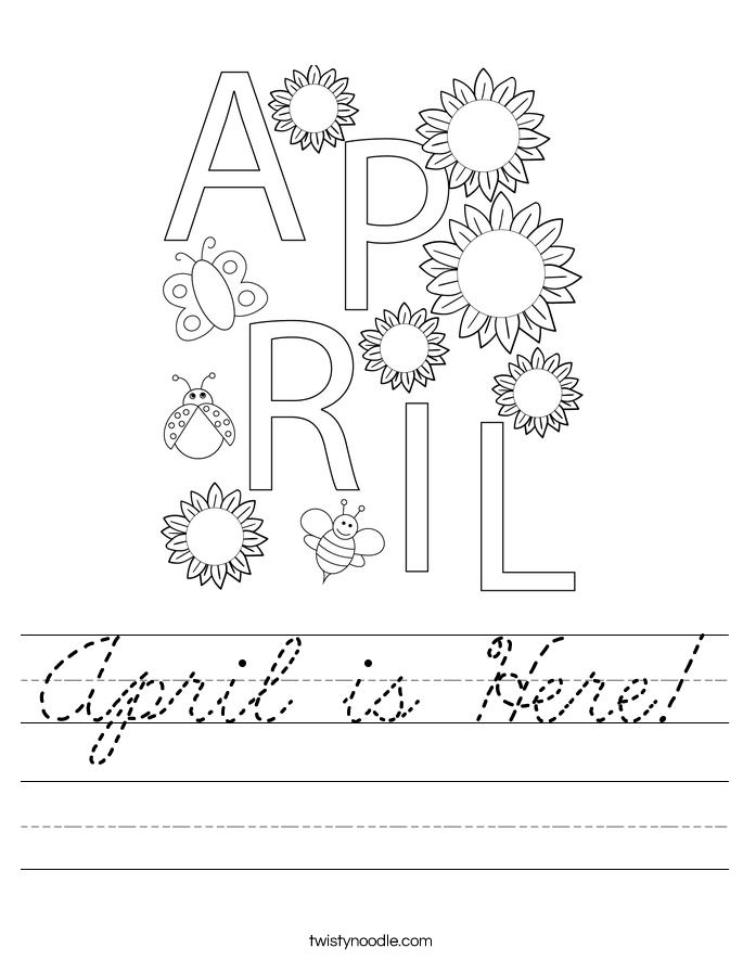 April is Here! Worksheet