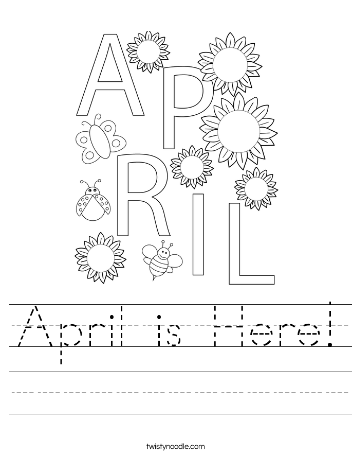 April is Here! Worksheet
