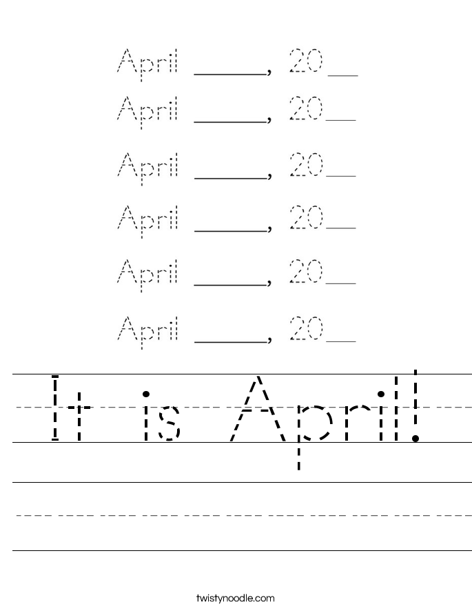 It is April! Worksheet