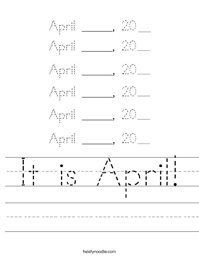 It is April! Worksheet
