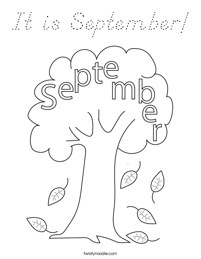 It is September! Coloring Page