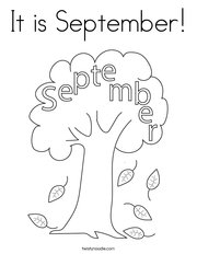 It is September Coloring Page