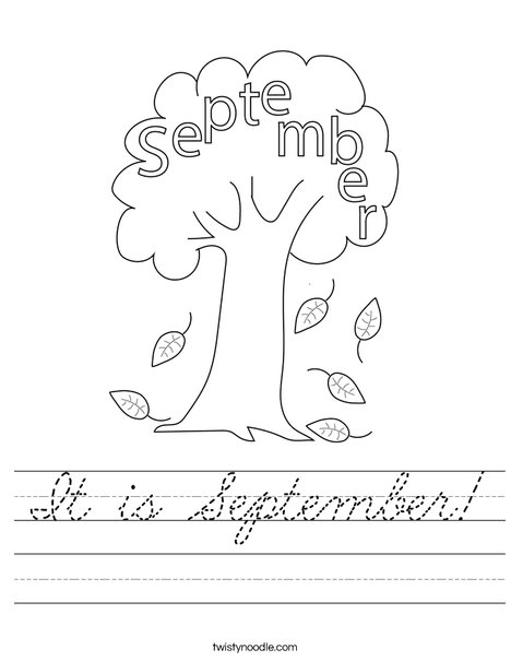 It is September! Worksheet