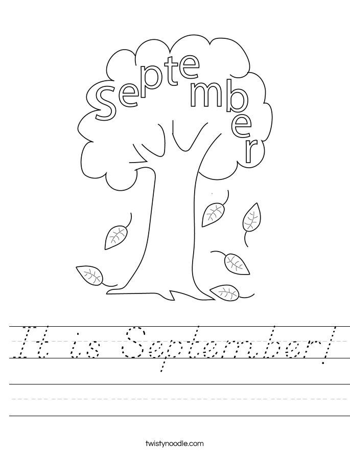 It is September! Worksheet