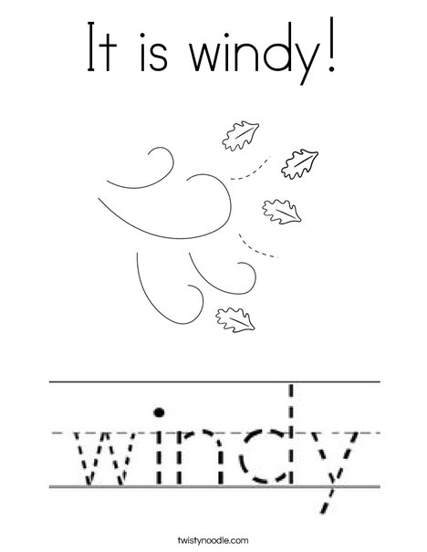 It is windy! Coloring Page