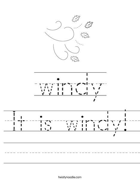 It is windy! Worksheet
