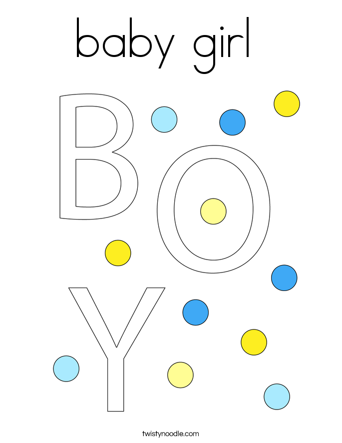 Baby Girl Coloring Page