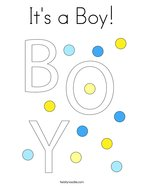 It's a Boy Coloring Page