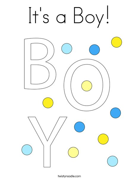 It's a Boy! Coloring Page
