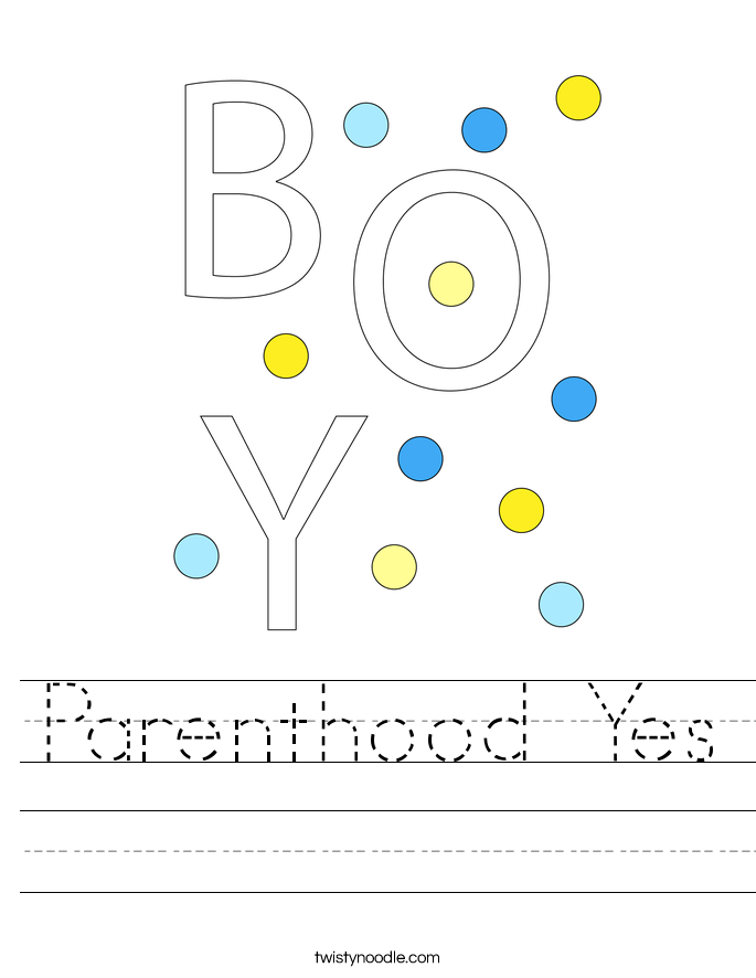 Parenthood Yes Worksheet
