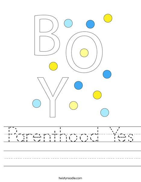 It's a Boy! Worksheet