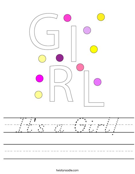 It's a Girl! Worksheet