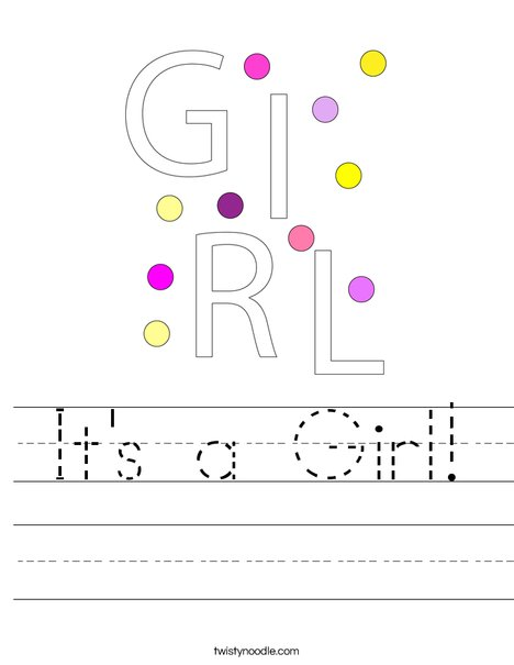 It's a Girl! Worksheet