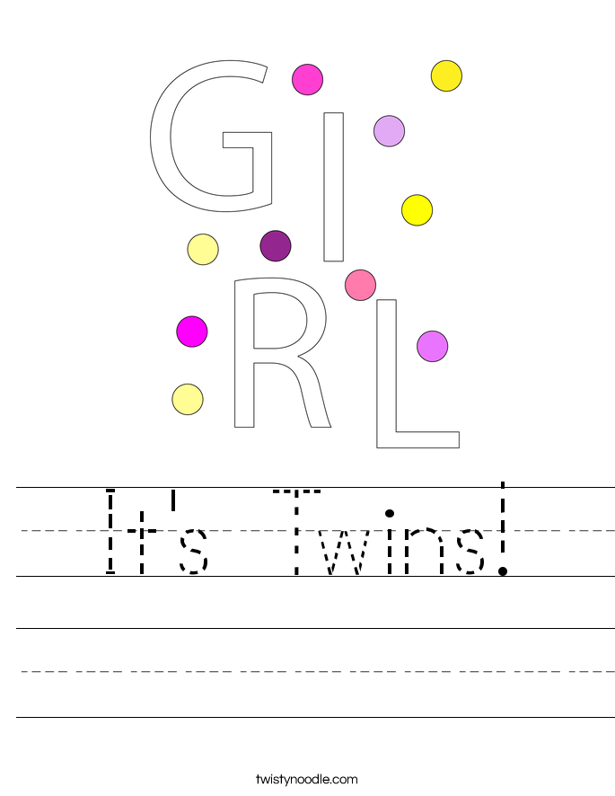It's Twins! Worksheet