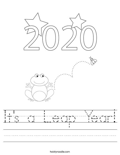It's a leap year! Worksheet