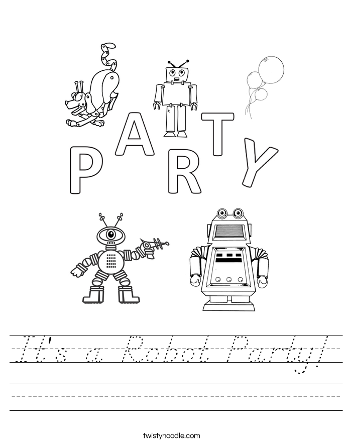 It's a Robot Party! Worksheet