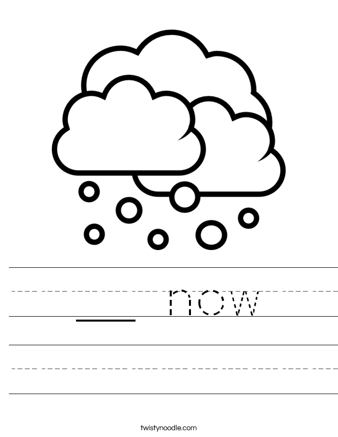 __ now Worksheet