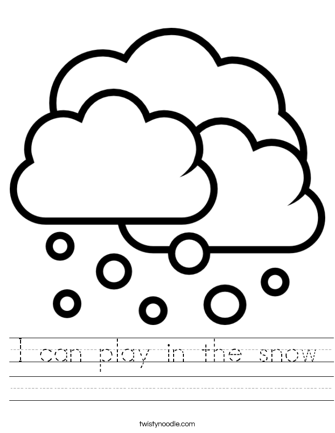 I can play in the snow Worksheet