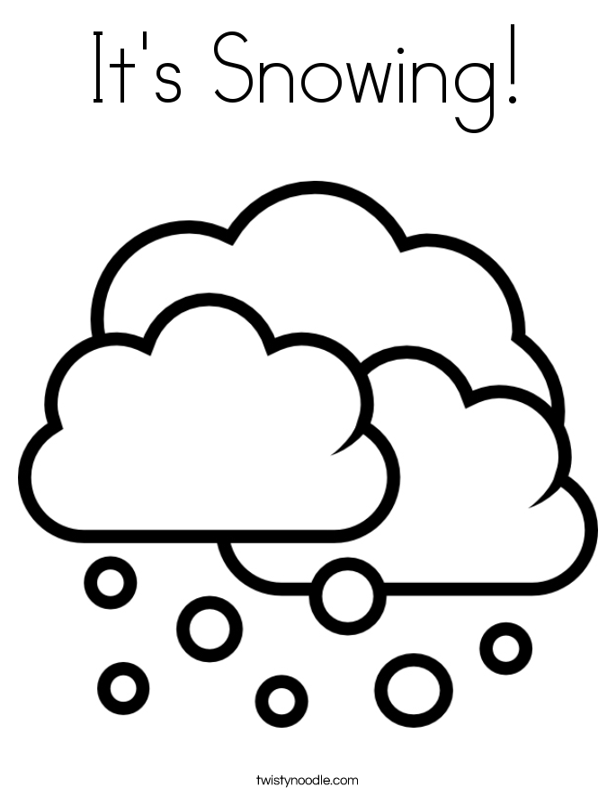 It's Snowing! Coloring Page
