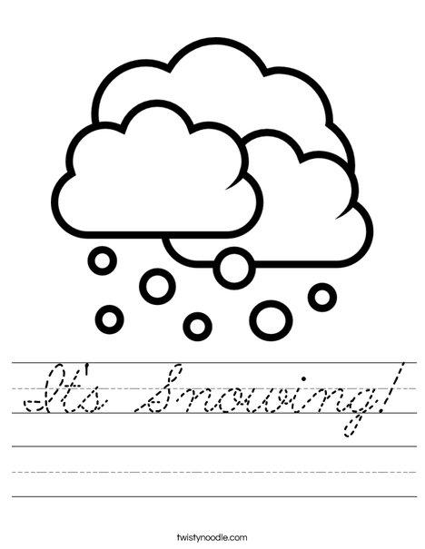 It's Snowing! Worksheet