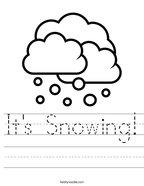 It's Snowing Handwriting Sheet
