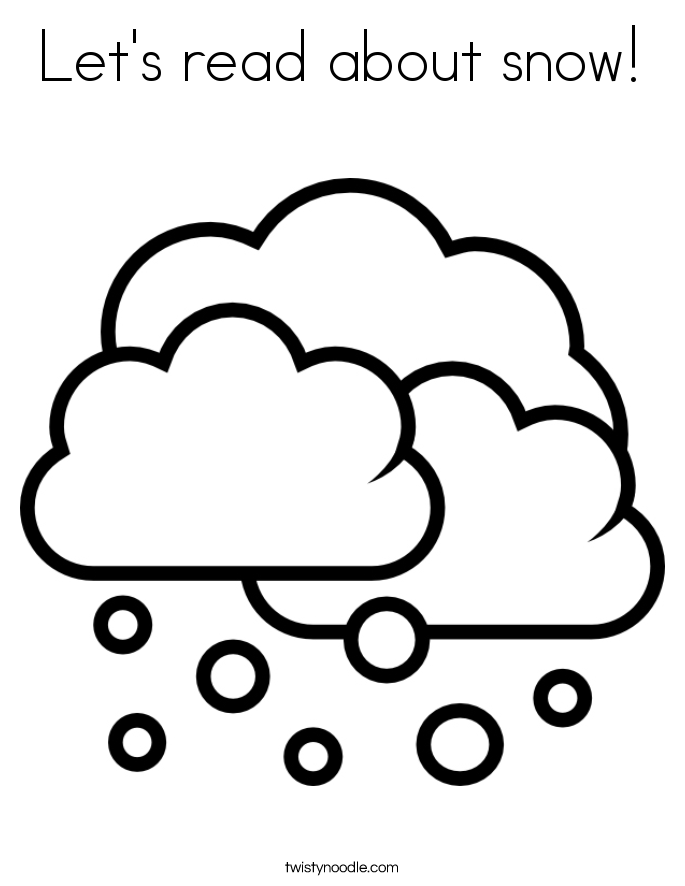 coloring pages weather snowy - photo#26