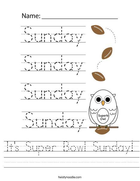 It's Super Bowl Sunday! Worksheet