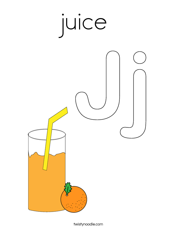 juice Coloring Page
