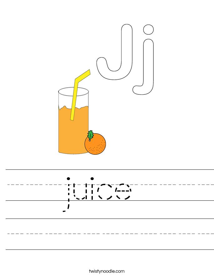 juice Worksheet